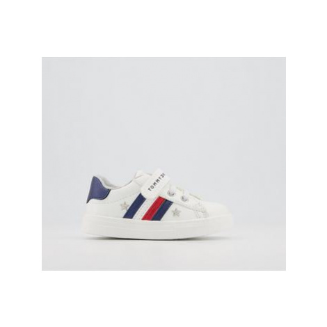 Tommy Hilfiger Tommy Sneaker 4-6 WHITE BLUE RED METALLIC STAR
