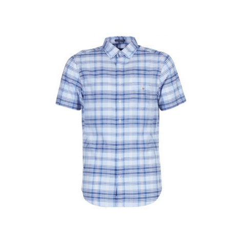 Gant BLUE PACK MADRAS REG men's Short sleeved Shirt in Blue