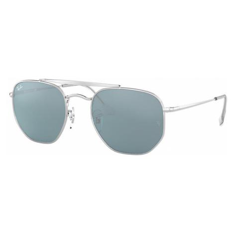 Ray-Ban Marshal Unisex Sunglasses Lenses: Blue, Frame: Silver - RB3648 003/56 54-21