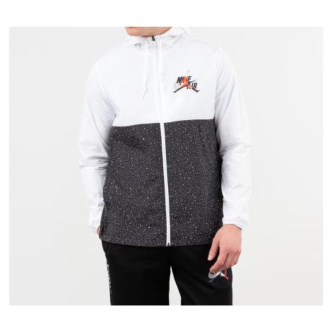 Jordan Classics Windwear Jacket White/ Black/ Infrared 23/ Metallic Silver
