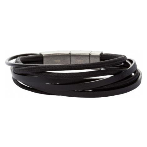 Fossil Men Multi-Wrap Bracelet - Black - One size
