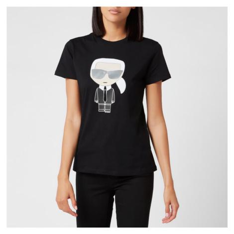 Karl Lagerfeld Women's Ikonic Karl T-Shirt - Black