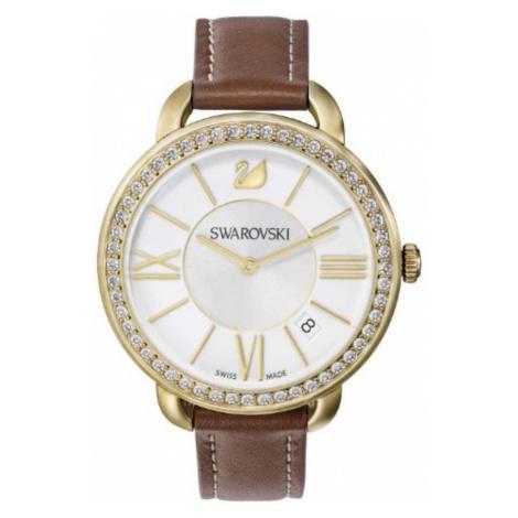 Swarovski Watch Aila Day Brown Yellow Gold Tone