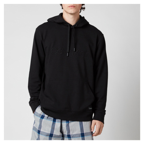 Calvin Klein Men's Pullover Chest Logo Hoodie - Black