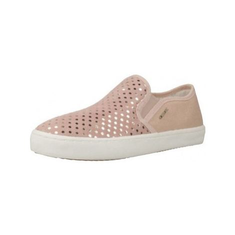Geox J KILWI G.D girls's Children's Slip-ons (Shoes) in Pink