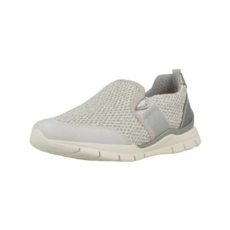 Geox J SUKIE GIRL girls's Children's Slip-ons (Shoes) in Silver