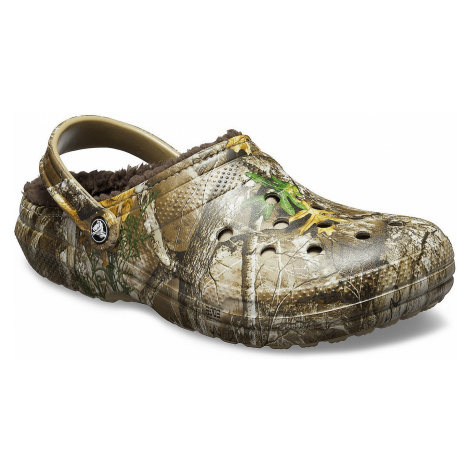 shoes Crocs Classic Lined Realtree Edge Clog - Chocolate/Chocolate