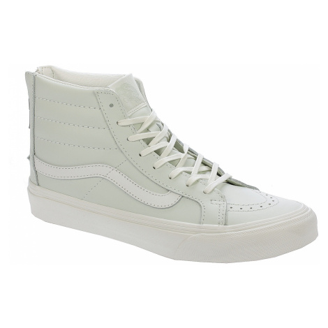 shoes Vans Sk8-Hi Slim Zip - Leather/Zephyr Blue/Blanc De Blanc