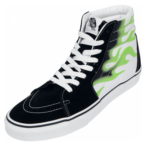 Vans - SK8-Hi Flame - Sneakers - black-green-white