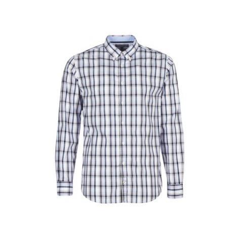 Tommy Hilfiger SUNLAND-CHK-RF3 men's Long sleeved Shirt in Blue