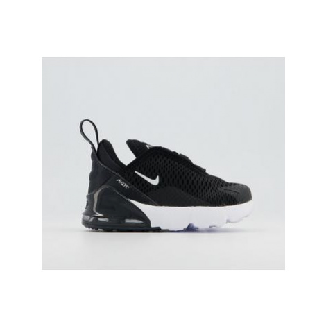 Nike Air Max 270 Toddler Trainers BLACK WHITE