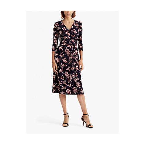 Lauren Ralph Lauren Carlyna Floral Print Day Dress, Navy/Multi