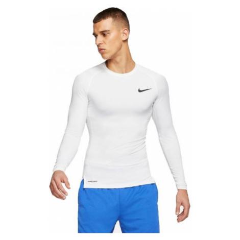 Nike NP TOP LS TIGHT white - Men's long sleeve T-shirt