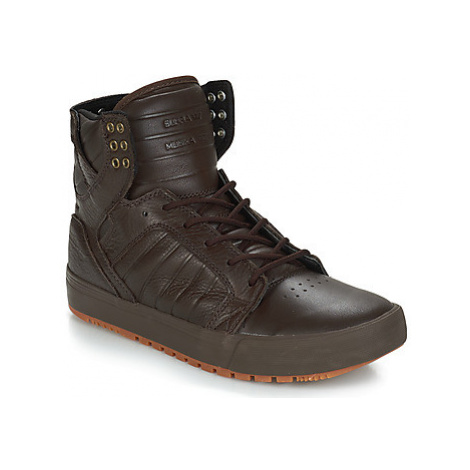 Supra SKYTOP CW men's Shoes (High-top Trainers) in Brown