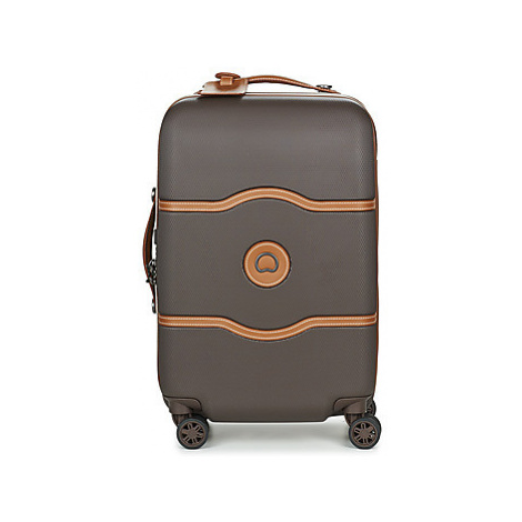 Delsey CHATELET AIR CAB 4R 55CM men's Hard Suitcase in Brown