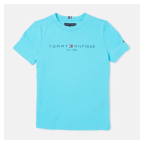 Tommy Hilfiger Boys' Essential Short Sleeve Logo T-Shirt - Bluefish