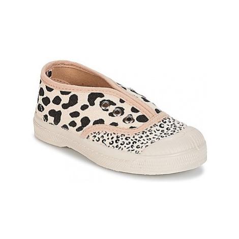 Bensimon TENNIS ELLY MIXLEO girls's Children's Shoes (Trainers) in Beige