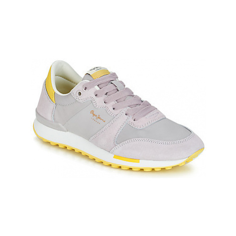 Pepe jeans BIMBA SOFT women's Shoes (Trainers) in Pink