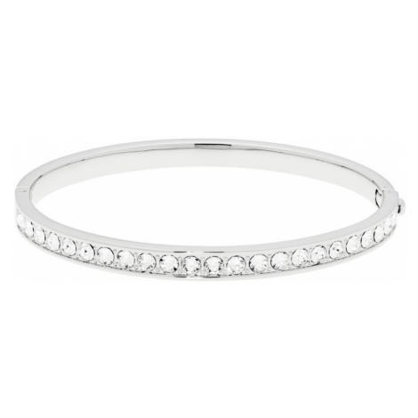 Ladies Ted Baker Silver Plated Clemara Hinge Crystal Bangle
