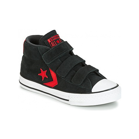 Converse STAR PLAYER EV V STAR PLAYER SUEDE MID BLACK/STORM WIND/CASINO girls's Children's Shoes