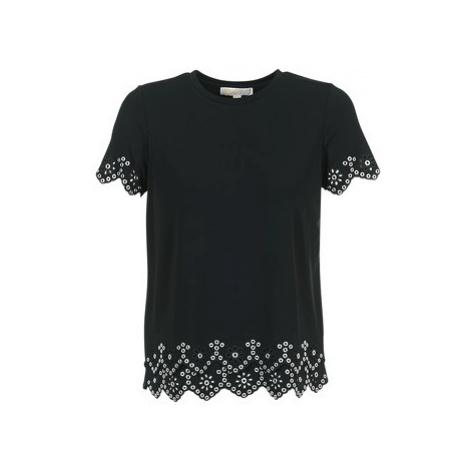 MICHAEL Michael Kors EMBEL CREW SS TOP women's Blouse in Black
