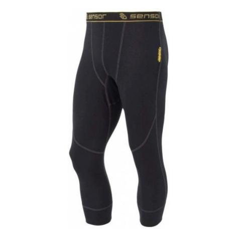 Sensor DOUBLE FACE 3/4 black - Men's tights