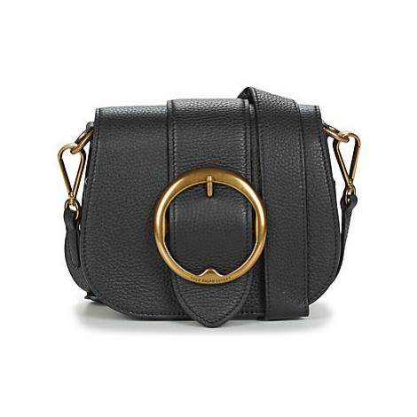 Polo Ralph Lauren BELT SADDLE-CROSSBODY-MEDIUM women's Shoulder Bag in Black