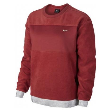 Nike ICON CLSH THEM FLC CREW red wine - Women's sweatshirt