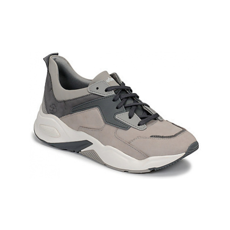 Timberland DELPHIVILLE LEATHER SNEAK women's Shoes (Trainers) in Grey