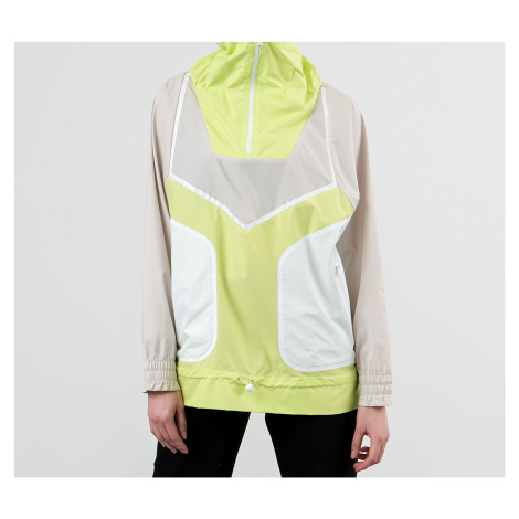 adidas x Stella McCartney Adizero Half Zip Jacket Clear Brown/ Semi Frozen Yellow/ White