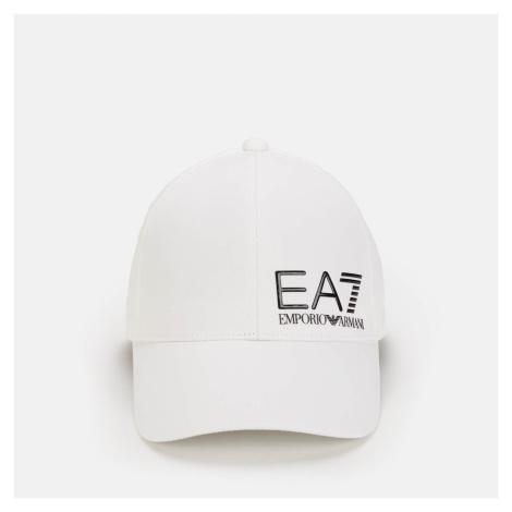 EA7 Men's Train Core Id Large Logo Cap - White Armani