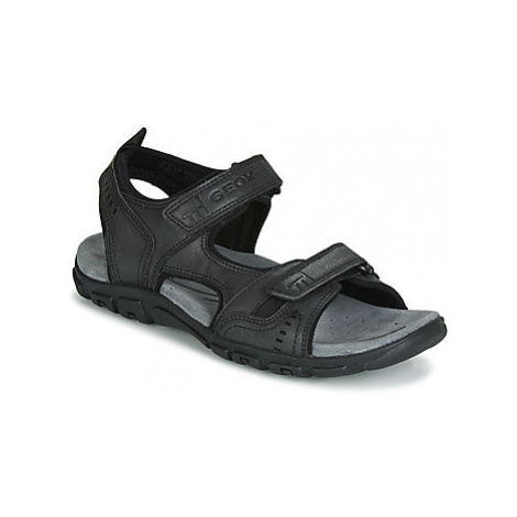Geox UOMO SANDAL STRADA men's Sandals in Black