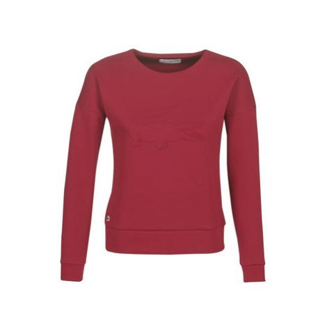 Lacoste SF7917 women's Sweatshirt in Bordeaux