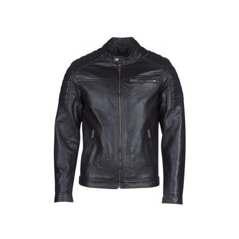 Jack Jones JCOROCKY men's Leather jacket in Black Jack & Jones