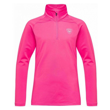 Rossignol GIRL 1/2 ZIP WARM STRETCH pink - Kids' turtleneck