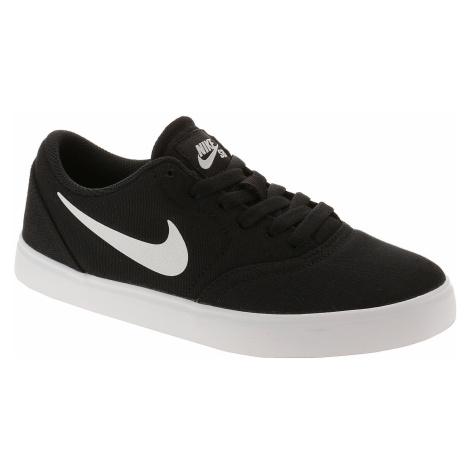 shoes Nike SB Check Canvas GS - Black/White - unisex junior