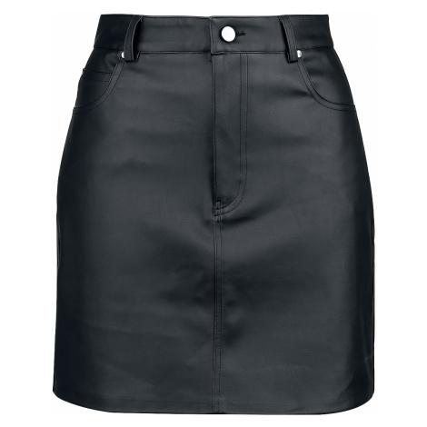 Fashion Victim - Faux Leather Skirt - Mini skirt - black