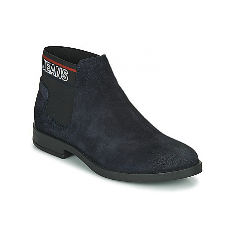 Tommy Jeans CORPORATE ELASTIC CHELSEA BOOT women's Mid Boots in Blue Tommy Hilfiger