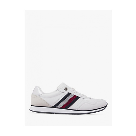 Tommy Hilfiger Leather Lace Up Trainers, White
