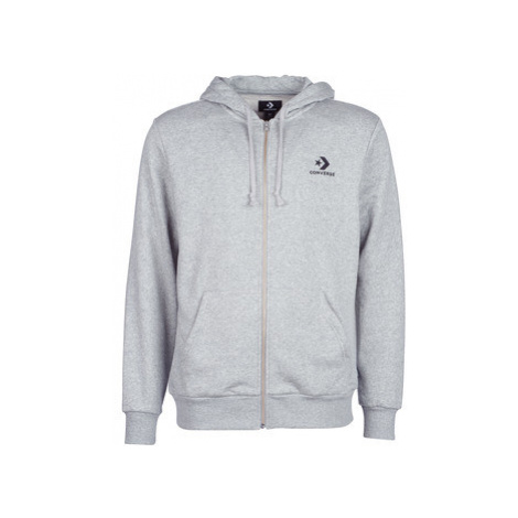 Converse CONVERSE STAR CHEVRON EMB FZ HOODIE men's Sweatshirt in Grey
