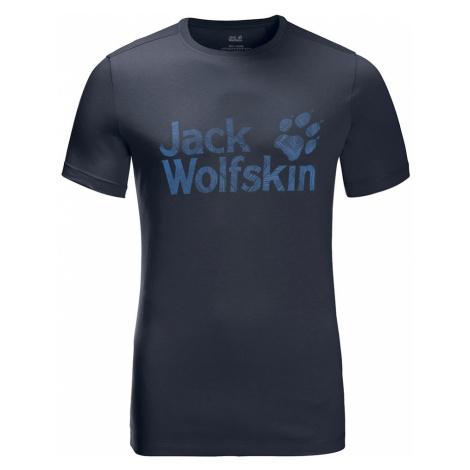 Jack Wolfskin Mens Brand Logo T-Shirt-Night Blue-XL