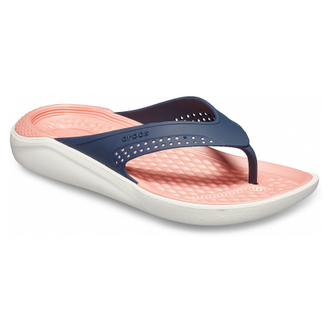 flip flops Crocs LiteRide Flip - Navy/Melon - women´s