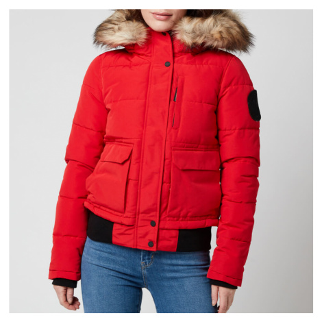 Superdry Women's Everest Bomber Jacket - High Risk Red