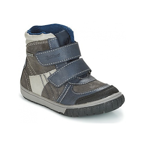 Kickers SITROUILLE boys's Children's Snow boots in Grey