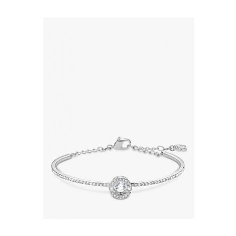 Swarovski Crystal Round Chain Bracelet, Silver