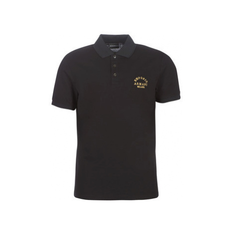 Emporio Armani 6G1FP1-1JJVZ-0999 men's Polo shirt in Black