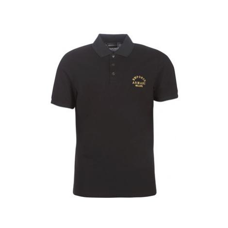 Emporio Armani 6G1FP1-1JJVZ-0999 men's Polo shirt in Black