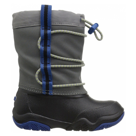 shoes Crocs Swiftwater Waterproof Boot - Black/Blue Jean - kid´s