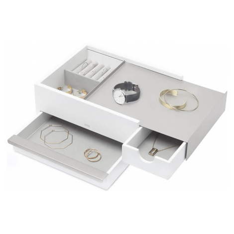 Umbra Stowit Jewellery Box - White Nickel