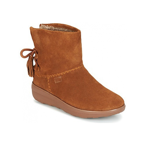FitFlop MUKLUK SHORTY II BOOTS WITH TASSELS women's Low Ankle Boots in Brown
